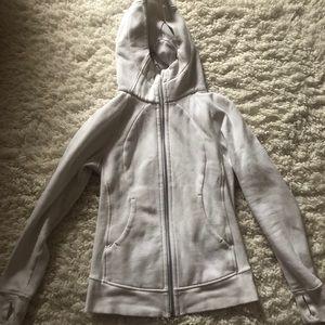 Lululemon white scuba hoodie